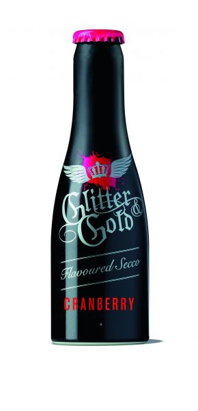 Glitter & Gold Sekt, Metallflasche, Cranberry, 7% Alc., 200 ml