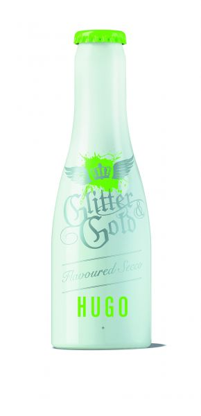 Glitter & Gold Sekt, Metallflasche, Hugo, 7% Alc., 200 ml